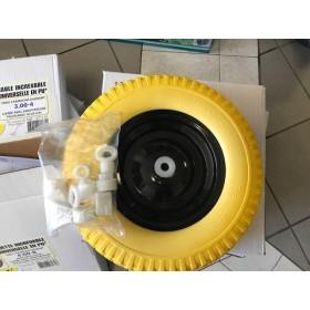 roue de brouette increvable en PU