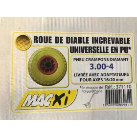 roue de diable increvable en PU